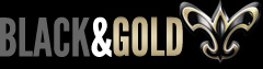 New Orleans Saints - Black and Gol